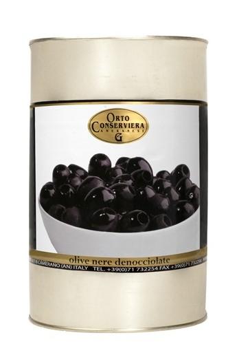 Olivy čierne celé bez kôst. 4000g