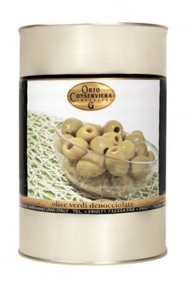 Olivy zelené celé bez kôst. 4000g