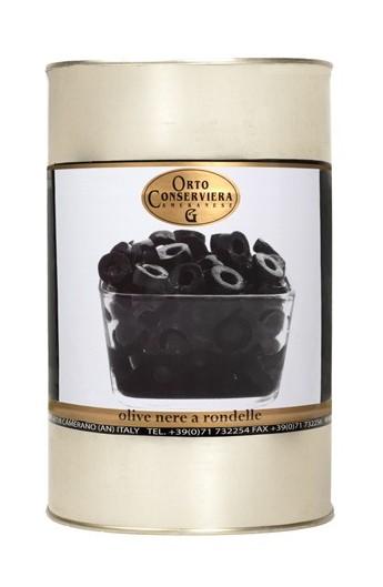 Olivy čierne krájané 4000g