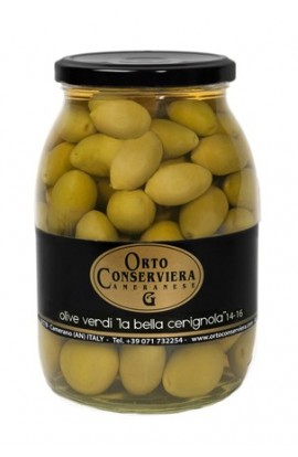 Olivy zelené veľké (Bella di Cerignola) 970g